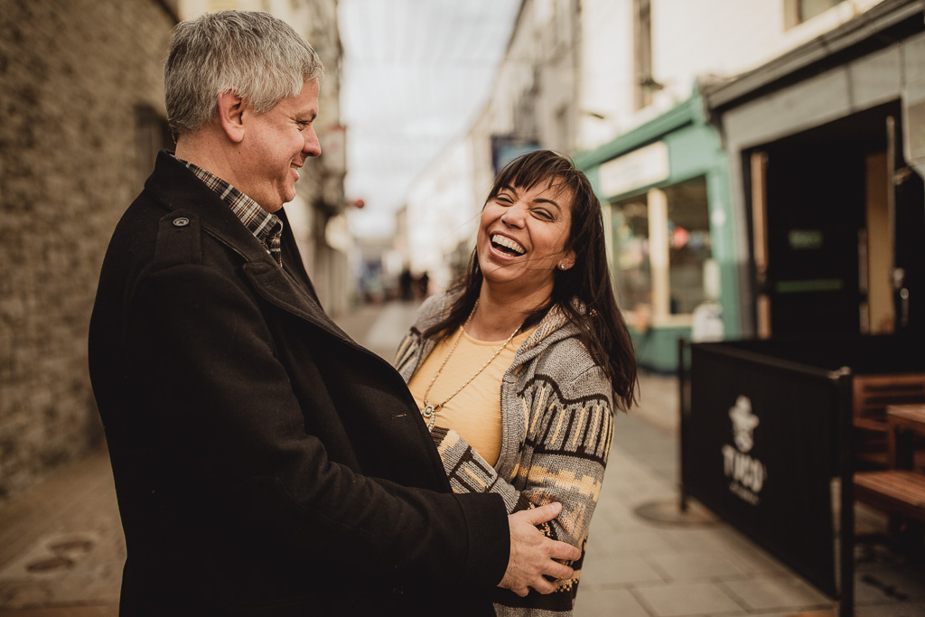 couple laughing together in galway