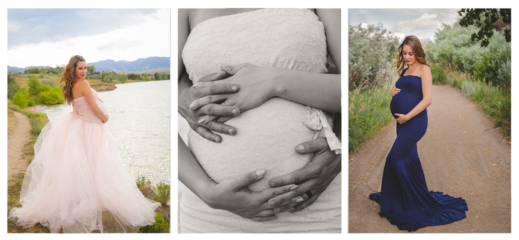 gorgeous nature maternity session