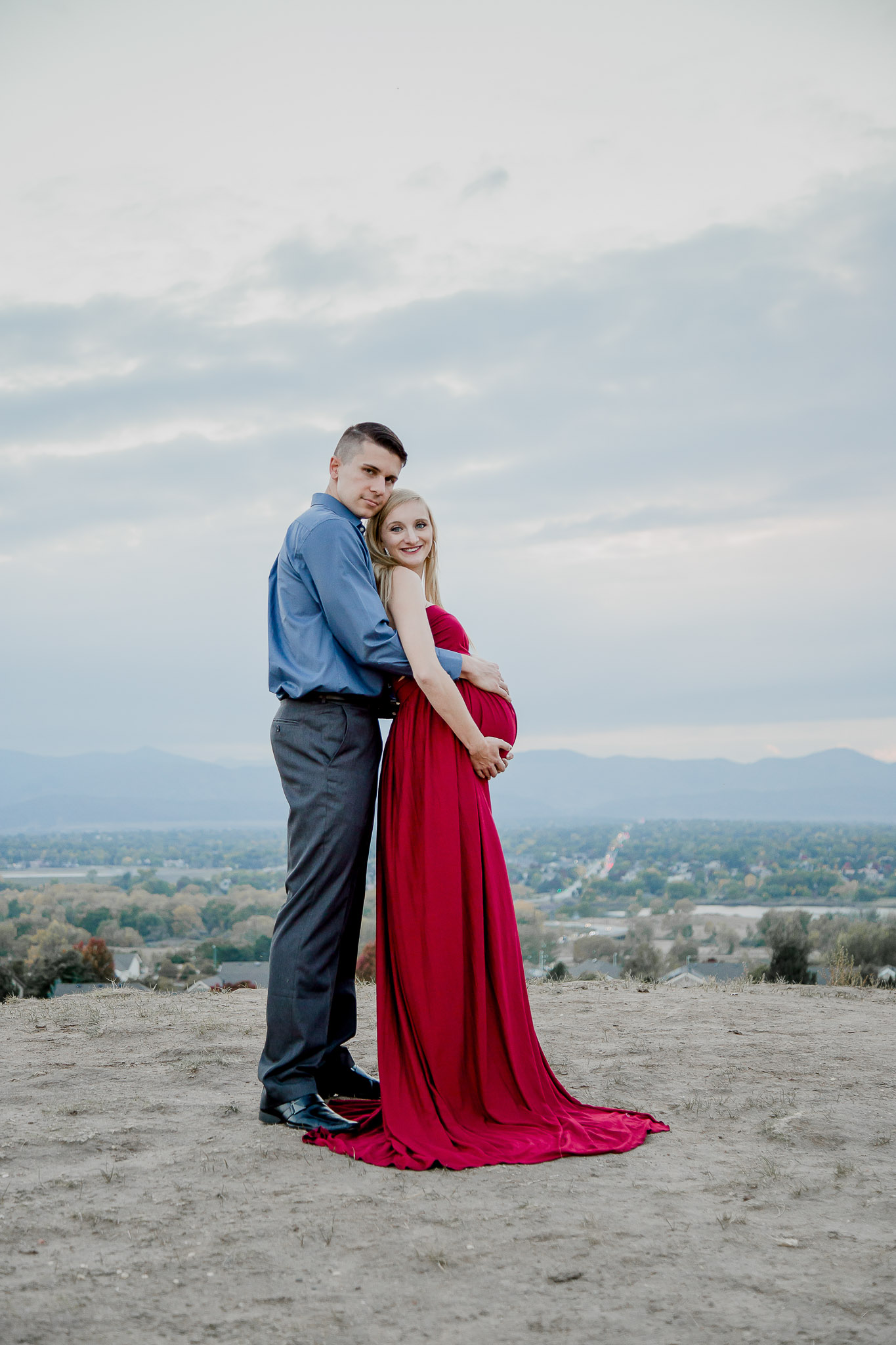 Outdoor-Littleton-Maternity-Red-Gown-Couple.jpg