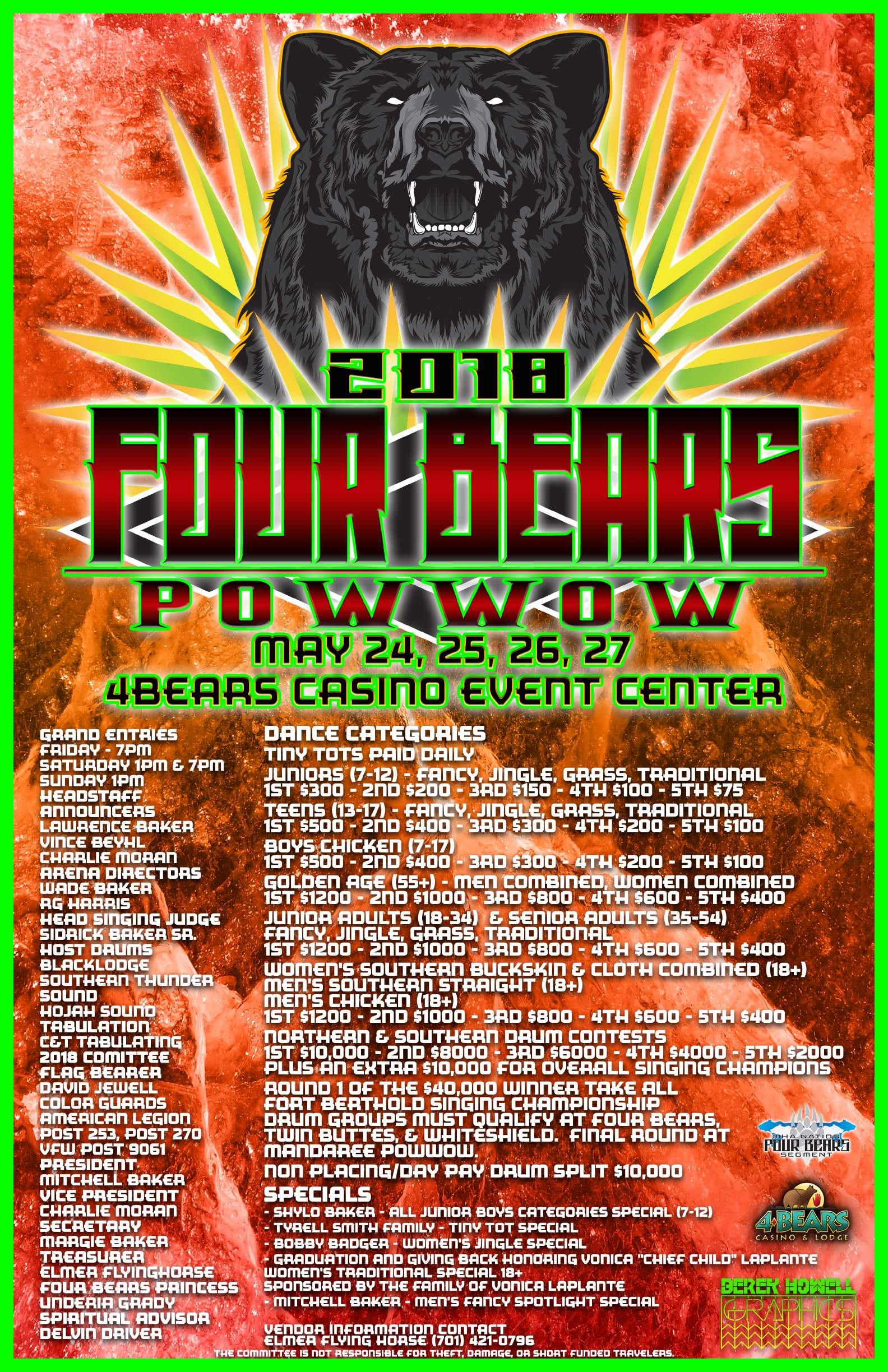 2018 Four Bears Pow Wow Celebration Poster final.jpg