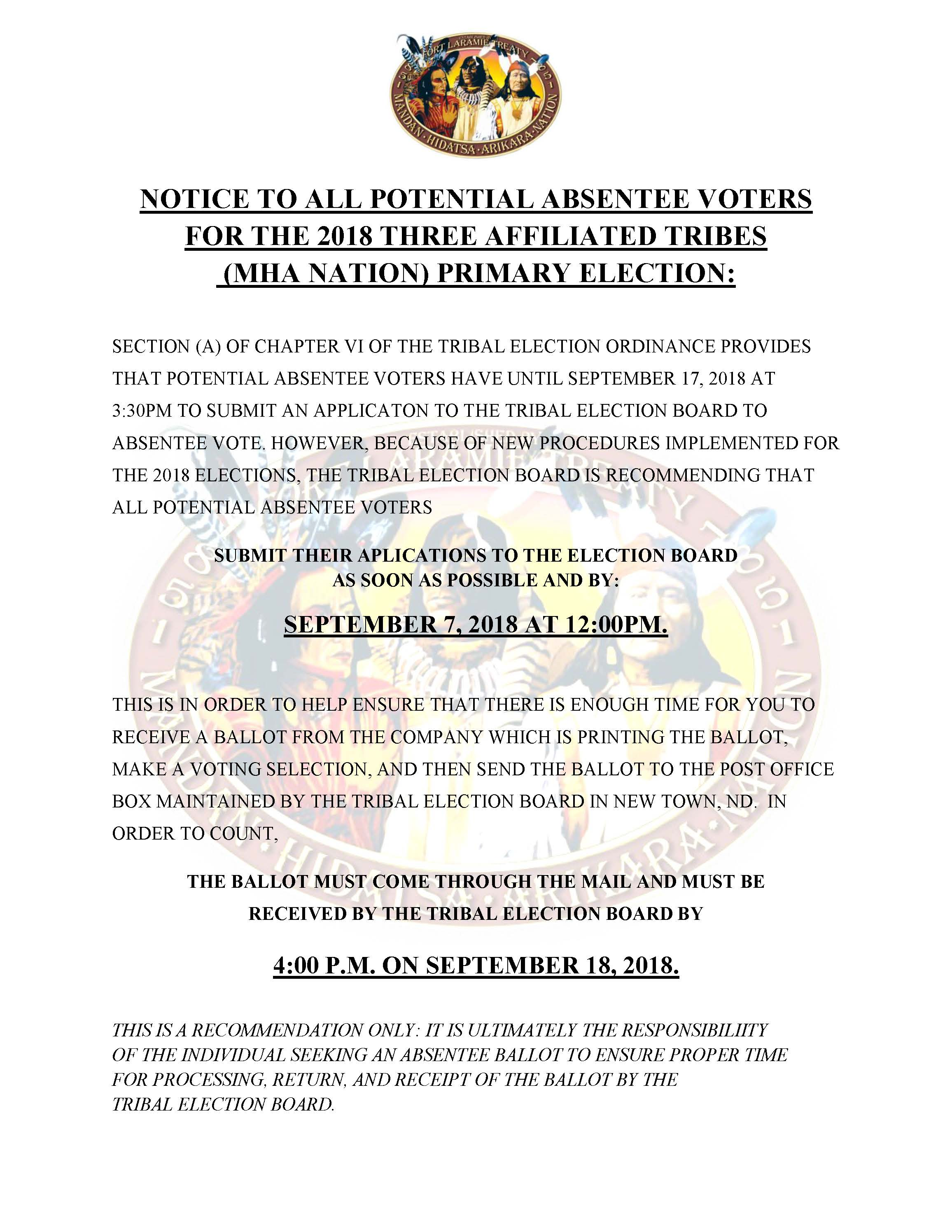 NOTICE TO ALL POTENTIAL ABSENTEE VOTERS FOR THE 2018 THREE AFFILIATED TRIBES_.jpg