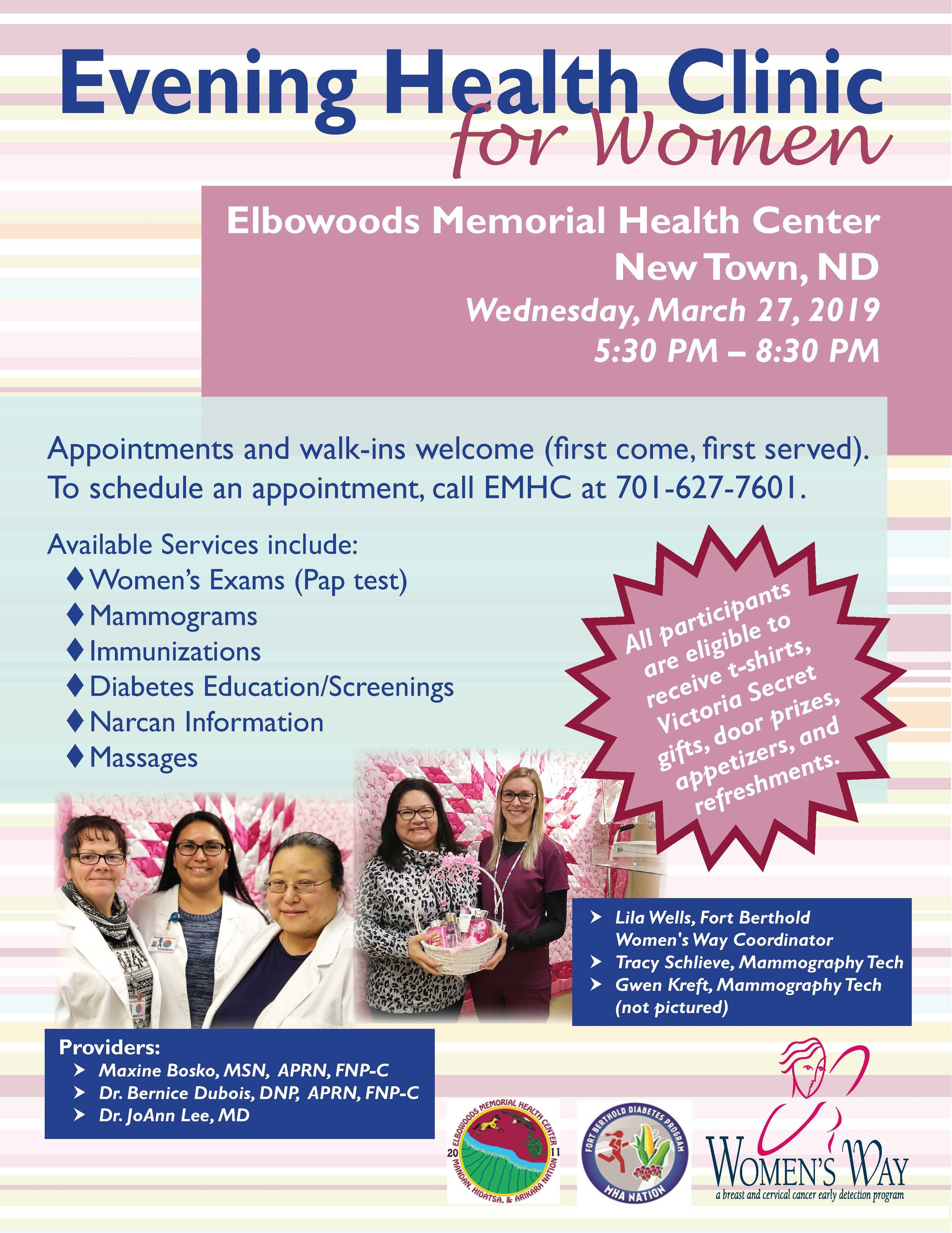 Evening Health Clinic for Women March 27 2019.jpg