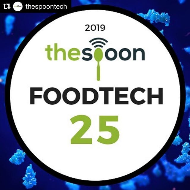Wow!! Thank you to The Spoon for the great honor, and we're so excited to be recognized with so many amazing and innovative companies!! #Repost @thespoontech with @get_repost ・・・ It's back! Introducing the 2019 Food Tech 25: the twenty-five companies creating the future of food right now.  Head to the link in our profile to see all the innovative companies that made the cut and why they're the ones to watch.  #foodtech25 #foodtech #futureoffood