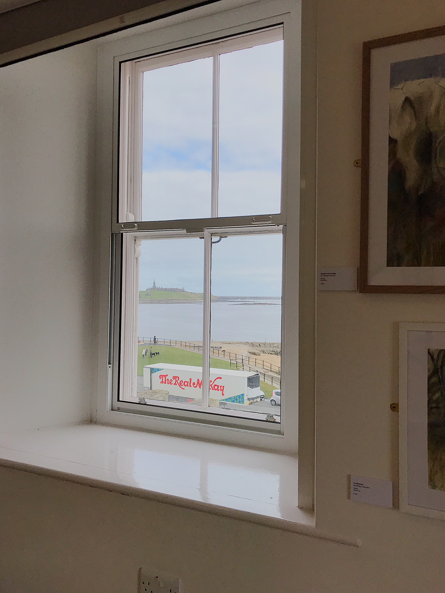 Sea views from the gallery