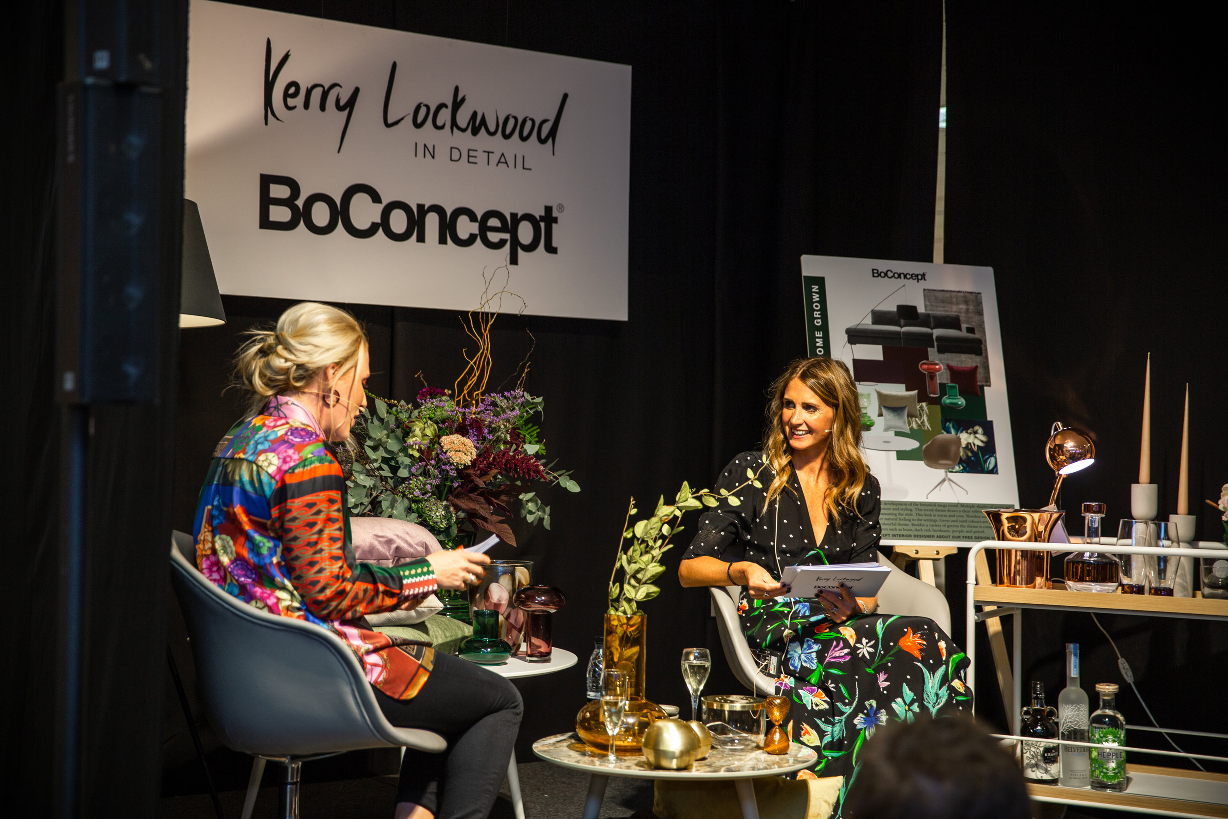 Kerry Lockwood in conversation with Emma Dickinson  ©  Lee Gibbins Photography