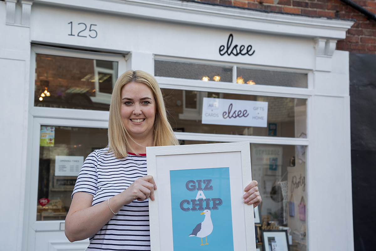 Owner of Whitley Bay interiors store, Elsee, Louise Clark