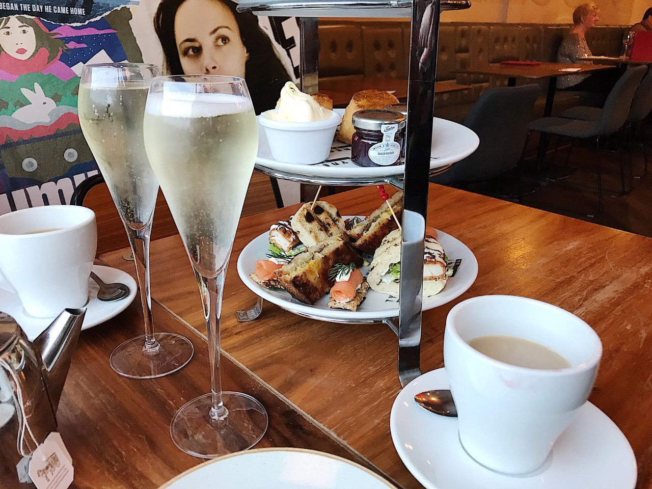 Afternoon Tea with Prosecco at Tyneside Bar Café, Newcastle