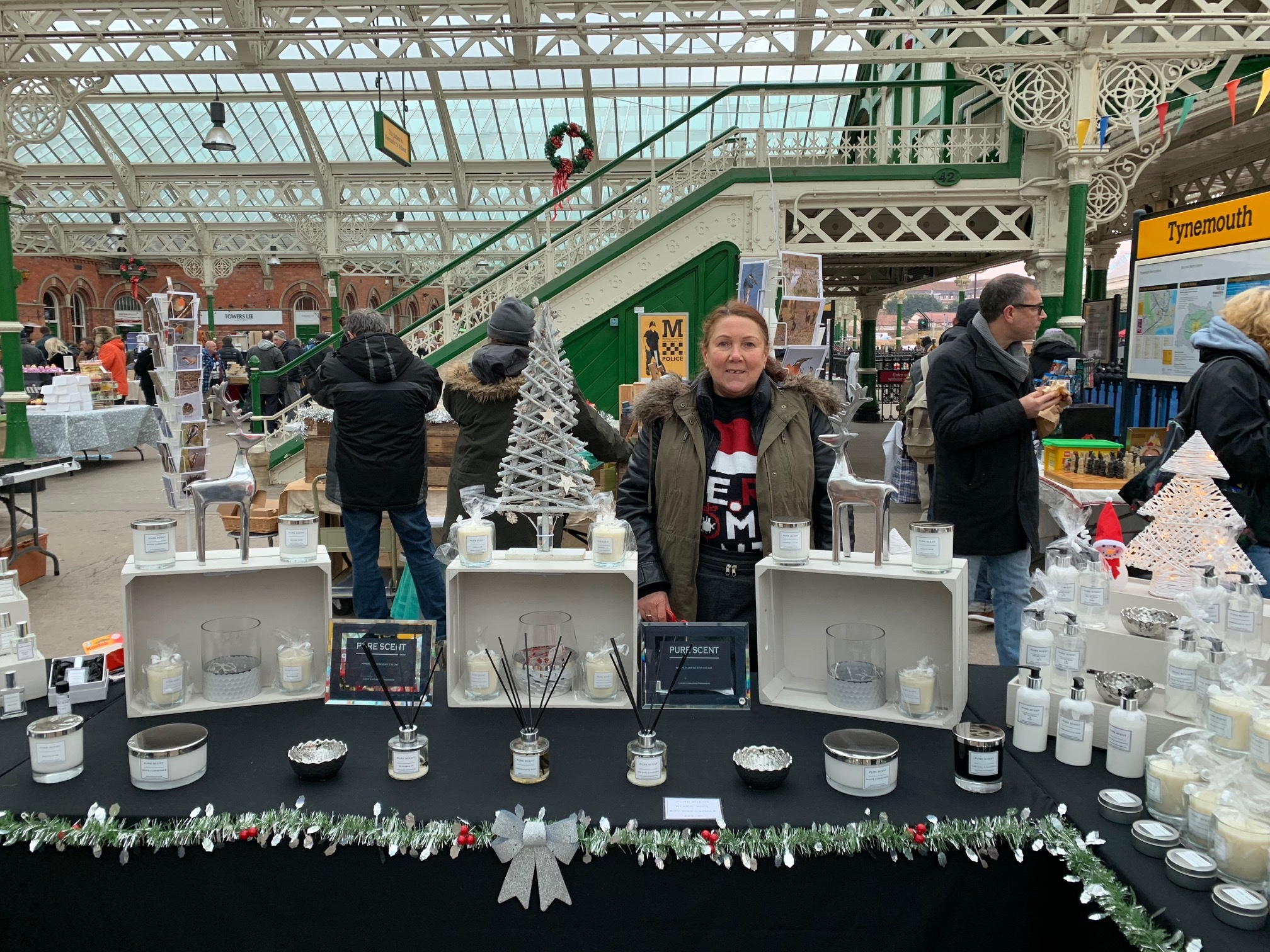Tracey of Pure Scent Northumberland at Tynemouth Market