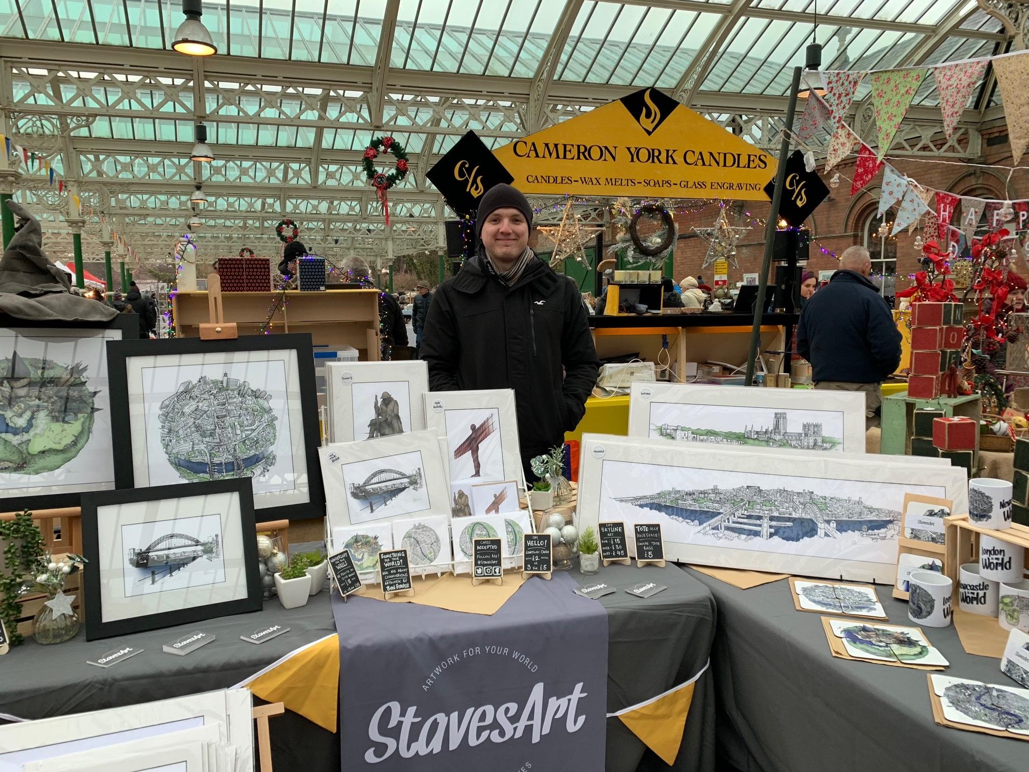 Ben of Staves Art at Tynemouth Market