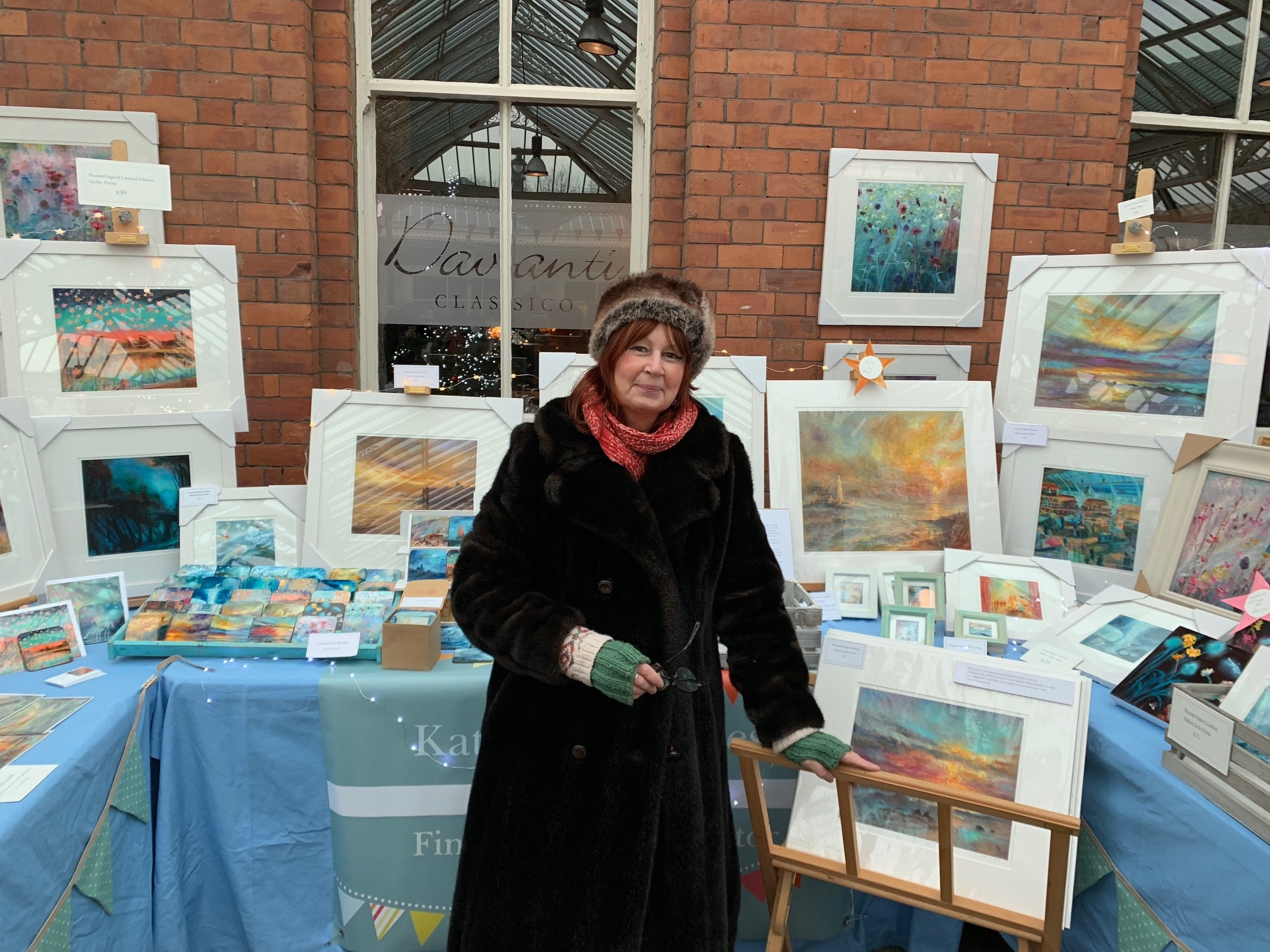 Kate Van Suddese at her stall in Tynemouth Market