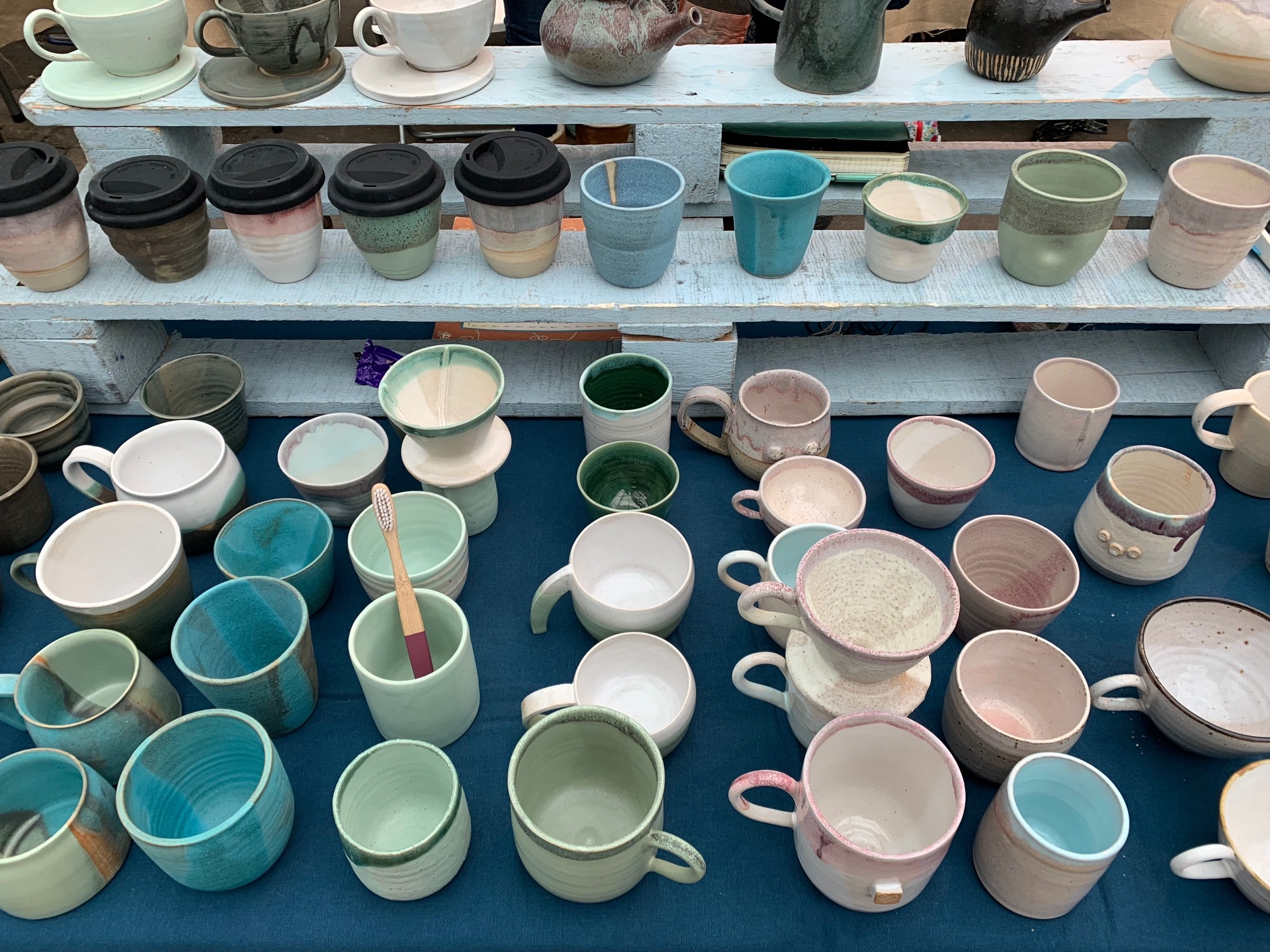 The North East Potters Collective stall at Tynemouth Market