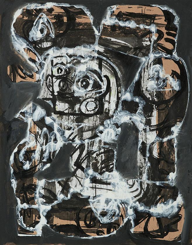 FADI YAZIGI Untitled 2016 Mixed Media on paper 50x39.5cm.jpg