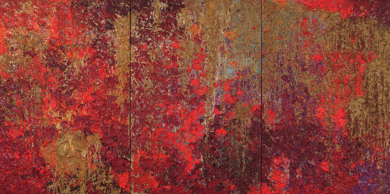 HUSSEIN BAALBAKI-01, Sunrise Ruby II, 120x240cm,2012.jpg