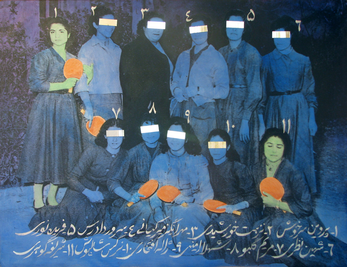 Samira Alikhanzadeh - Acrylic-&-mirror-fragments-on-printed-board-100x130cm-2008.jpg