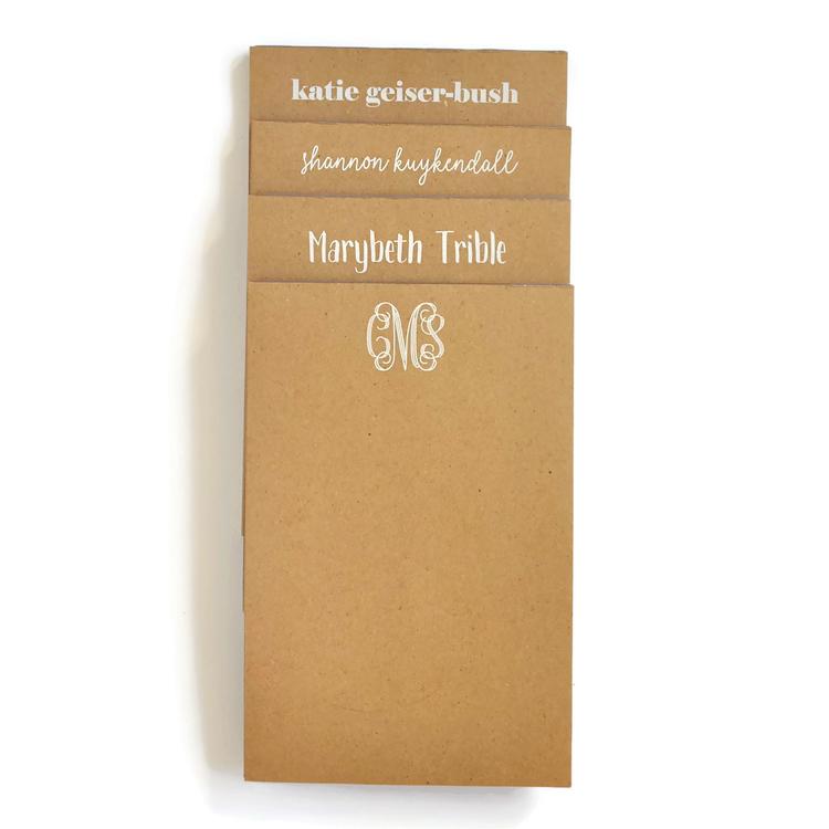 Large Kraft Notepad starting from $26