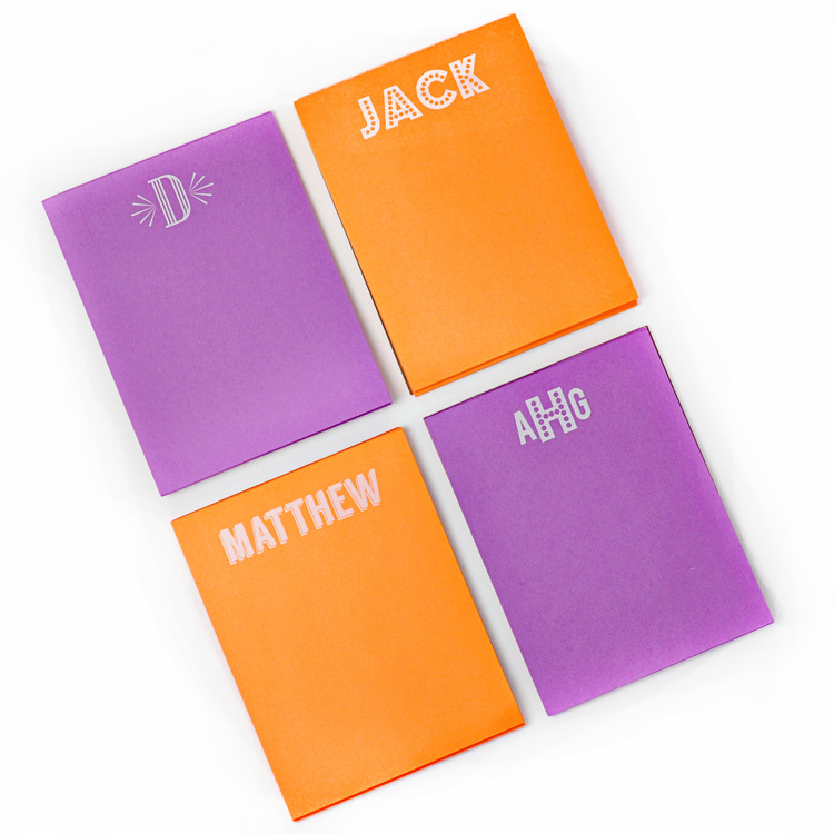 Small White on Bright Notepad starting from $15