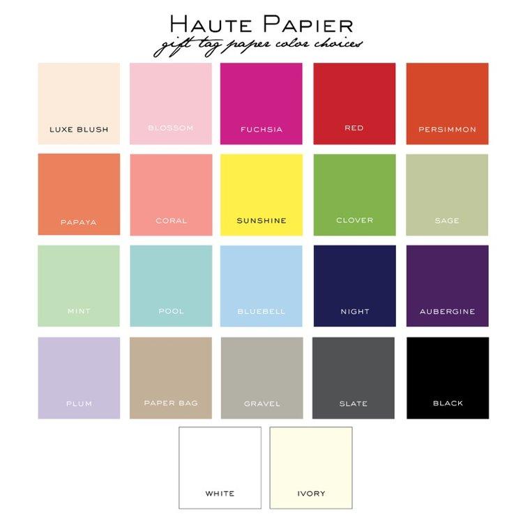 Paper Color Choices