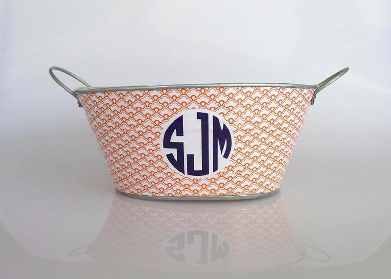 Little Bin | Scallops + Monogram
