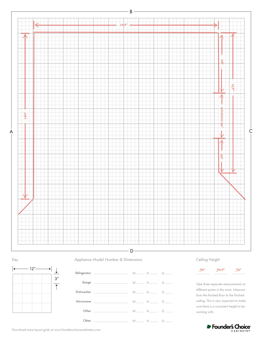How To Measure Your Kitchen For New Cabinets Founder S