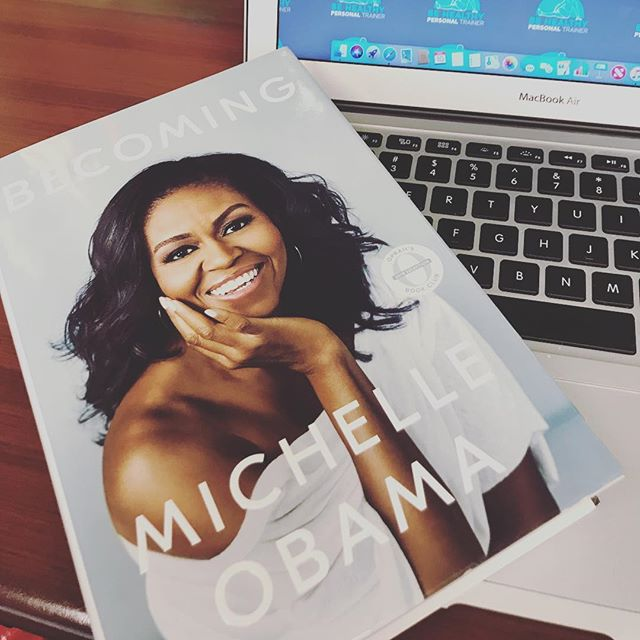 What a great way to start the week! Thank you @mindbody for this inspiring gift 💪🏼 #bold2018 #michelleobama #inspireothers