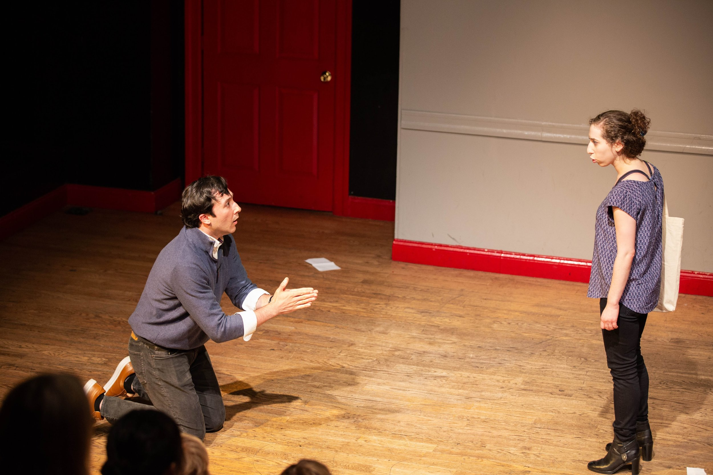 """From Slingshot Theater Company's inaugural show, """"Tamra Wasserman: This is Real, This is Me (An evocative autobiographical play by Tamra Wasserman)"""" by Doug Kmiotek."""
