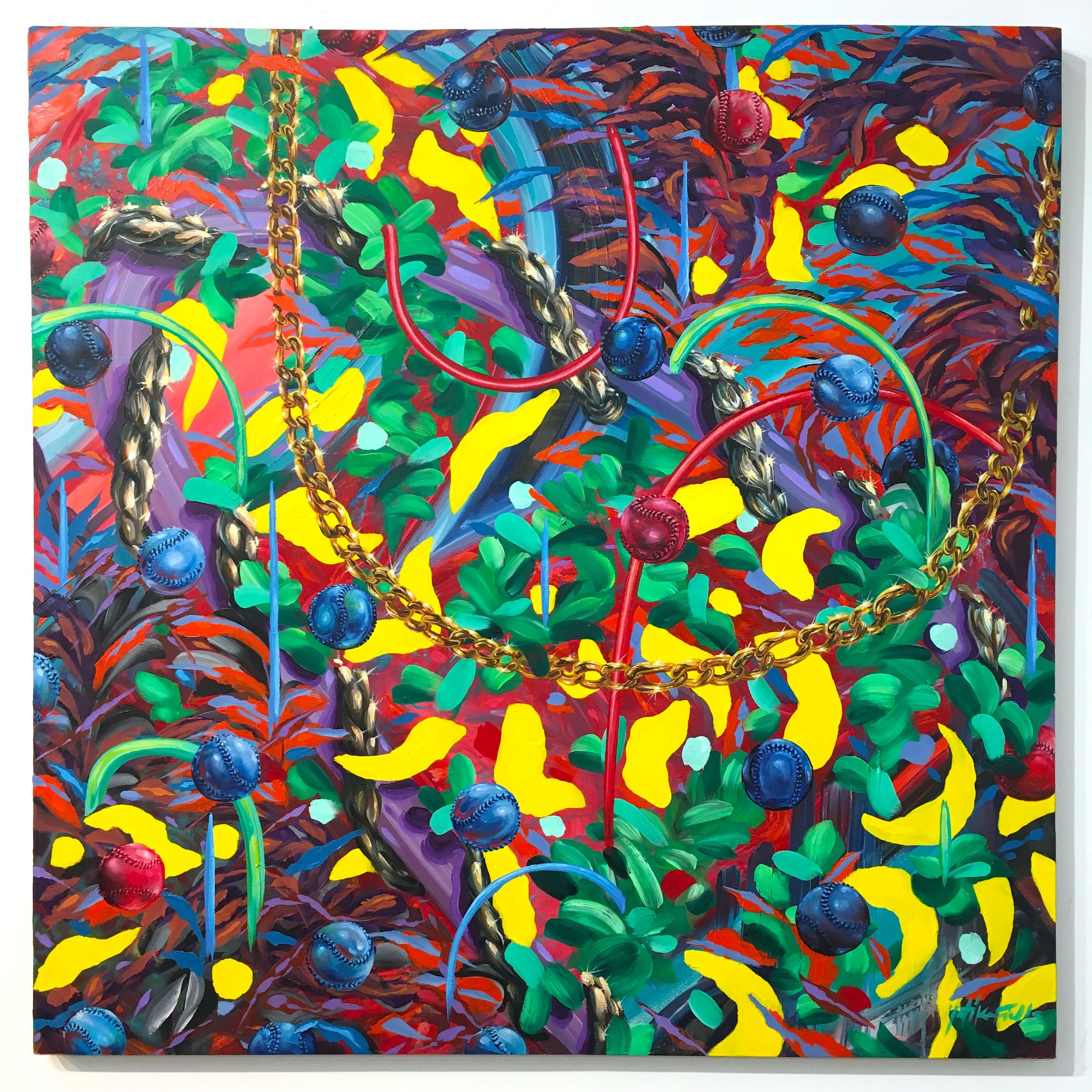 """""""Change-Up""""   48"""" x 48"""" Oil on Canvas"""