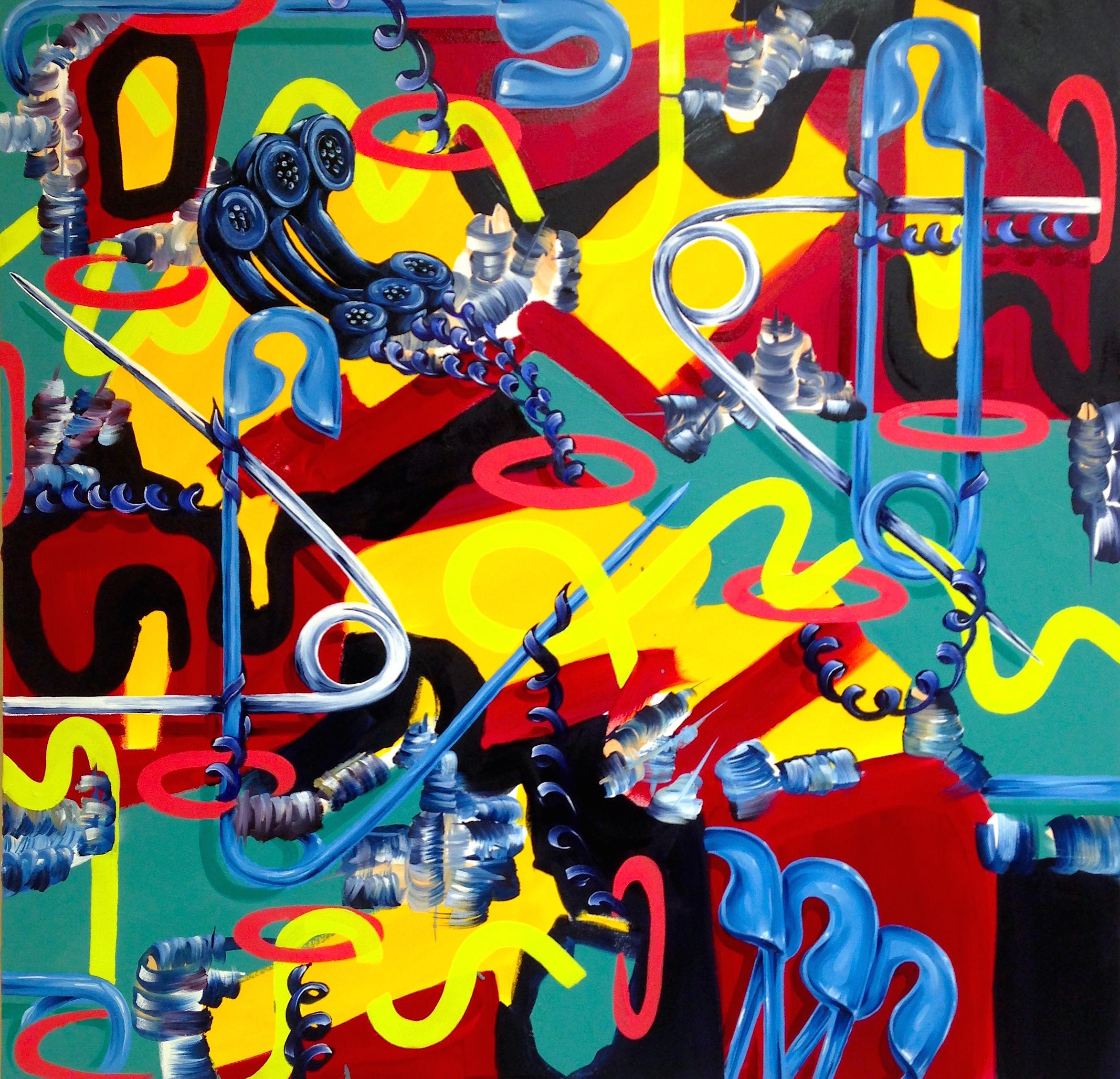 """1980"" 48""x 48"" Oil on Canvas 2015"