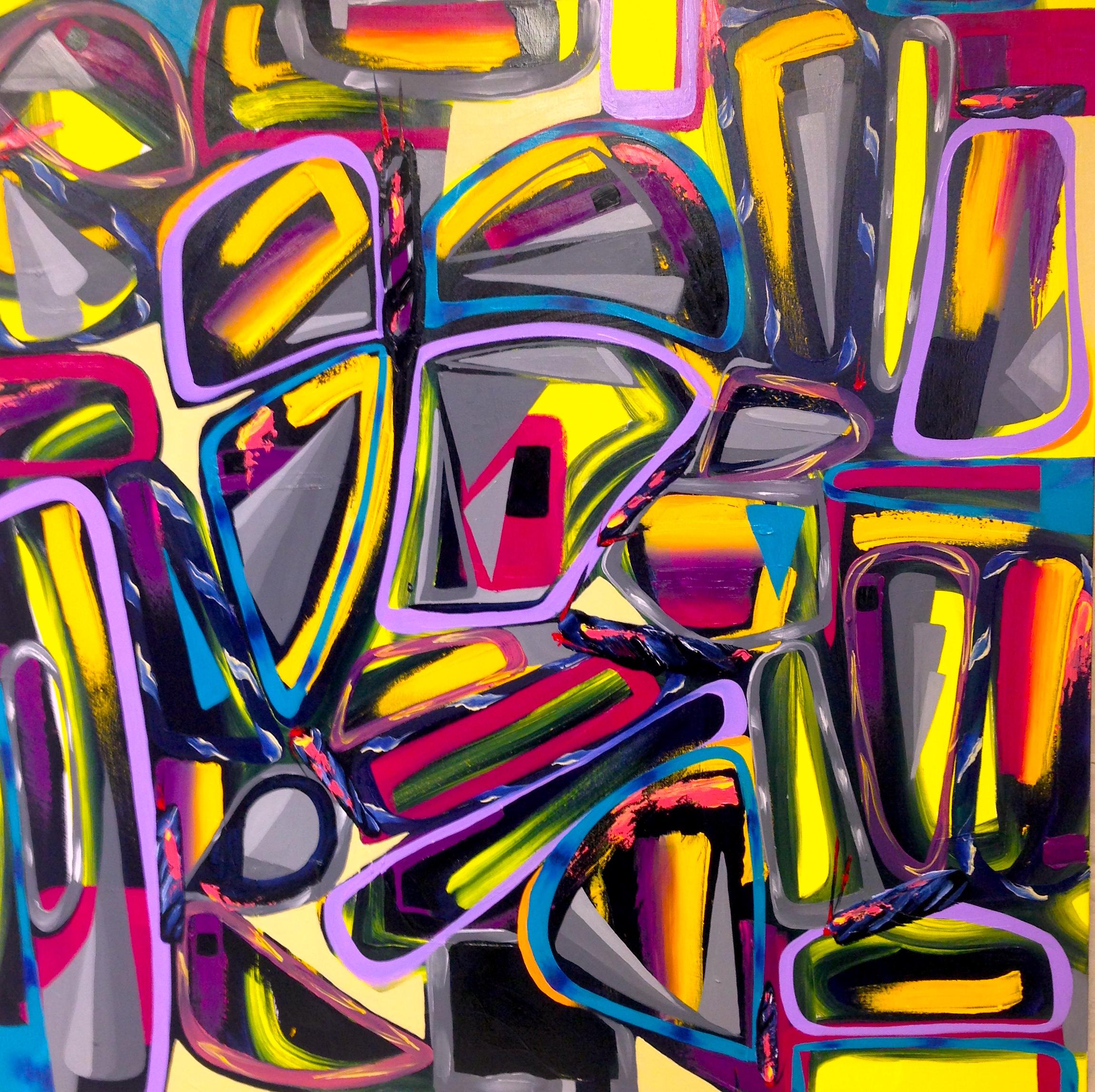"""DragonFlies""   48""x 48"" Oil on Canvas 2015"