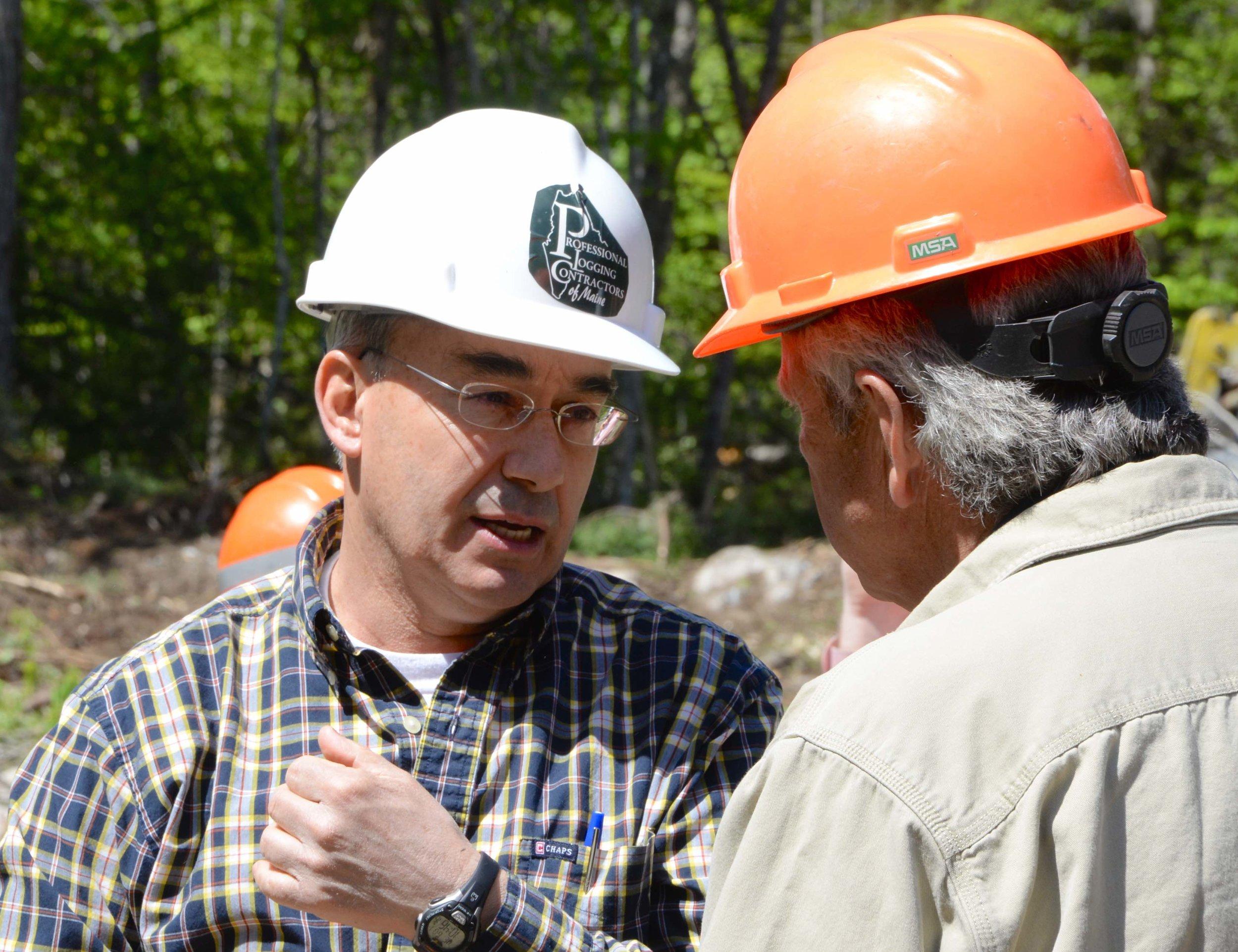 Professional loggers Congressman-Poliquin-and-Scott-Madden-3.jpg