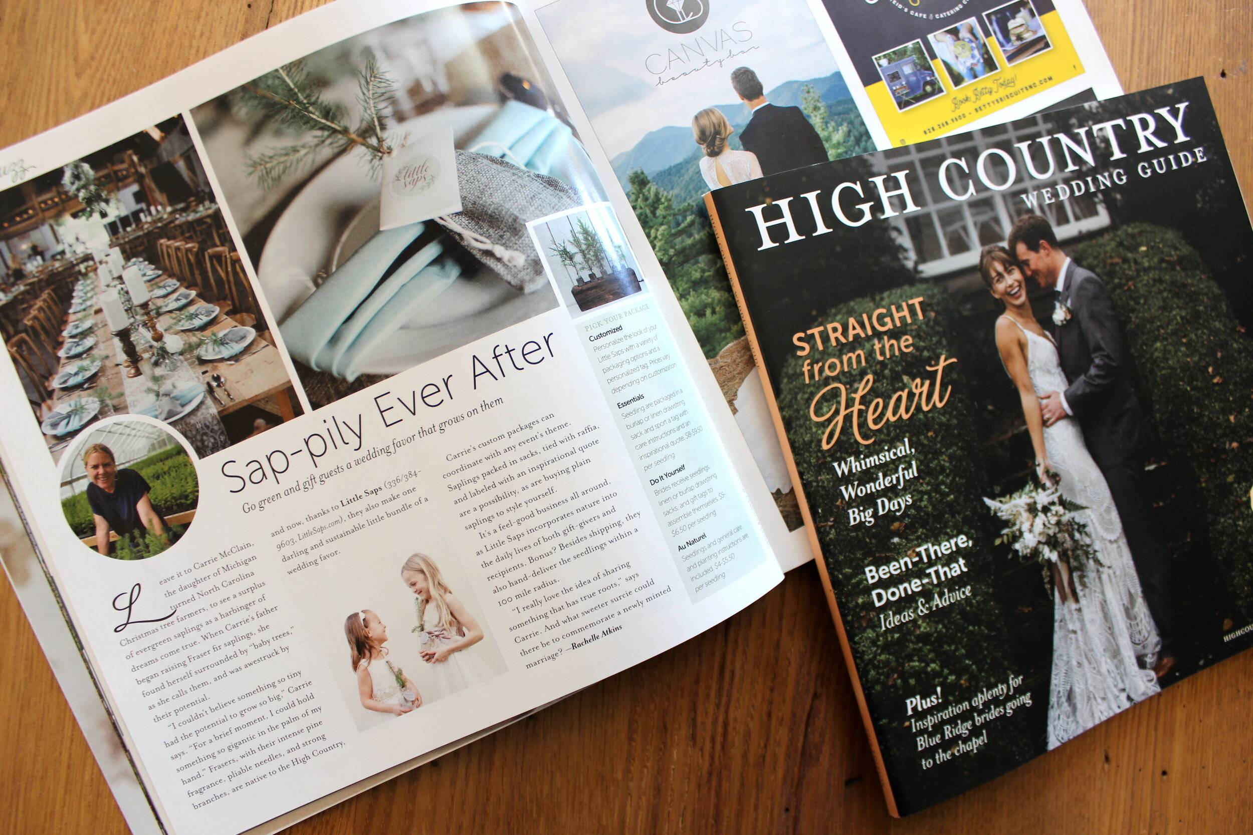 Little Saps in High Country Wedding Guide