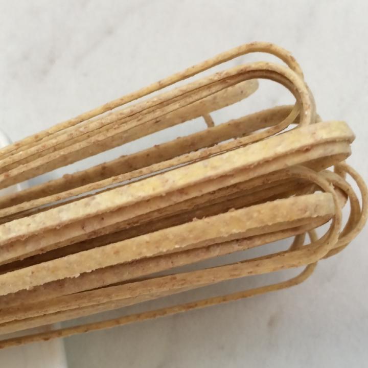 """Whole Wheat Linguine   17"""" - 3mm wide - 1.2mm thick / 10 lb. Bulk Case"""