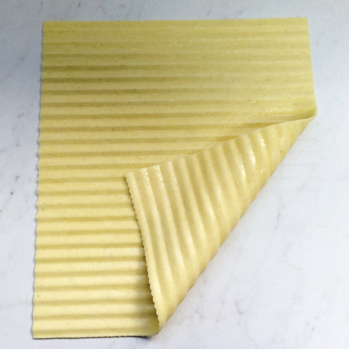 "Rippled (pre-cooked) - Egg Pasta   34 - 9""x10"" Sheets"