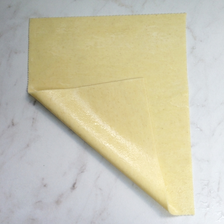 "Flat (pre-cooked) - Egg Pasta   40 - 8""x10"" Sheets Separated w/ Slip sheets"