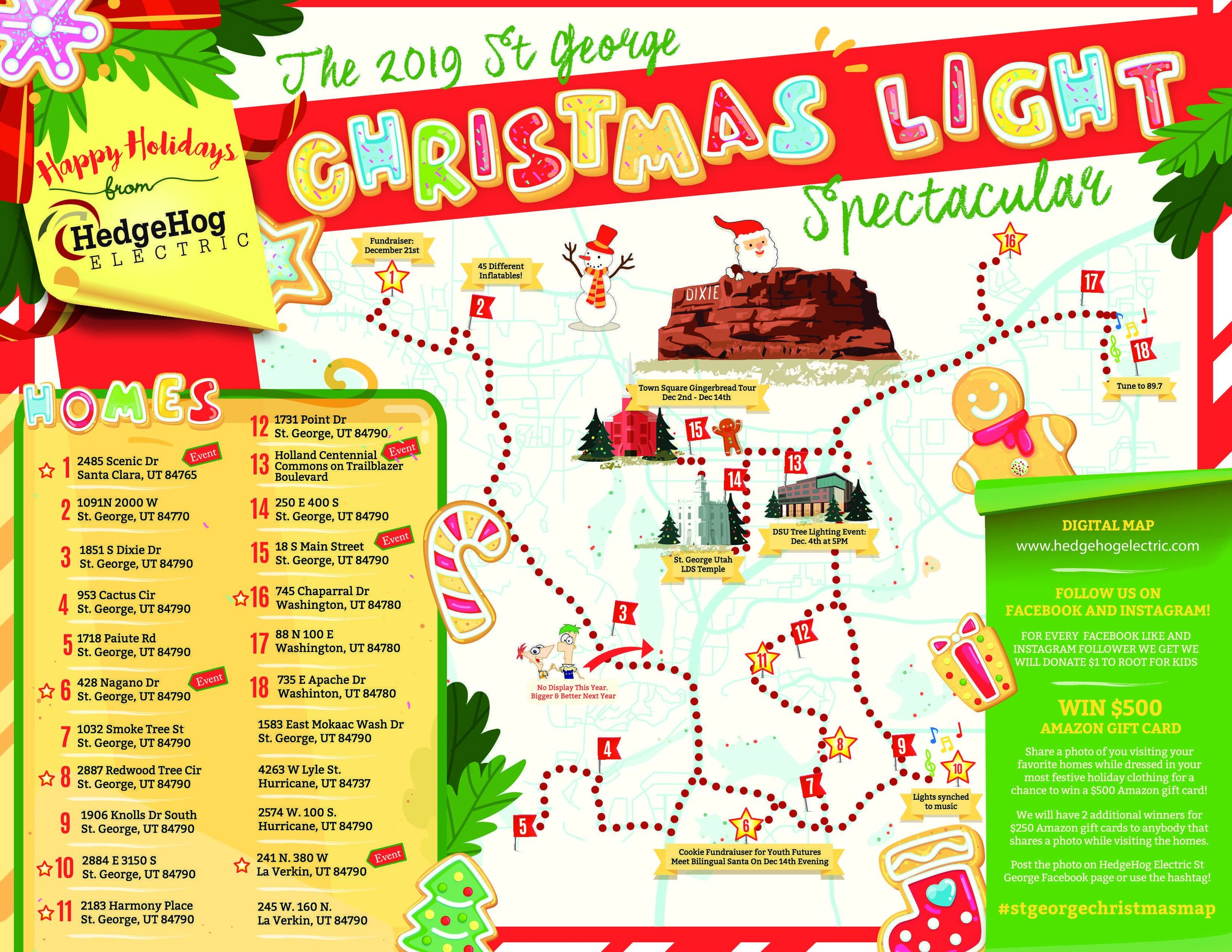 2020 St. George Christmas Light Map Christmas Activities in Southern Utah 2019 — SunRiver Communities