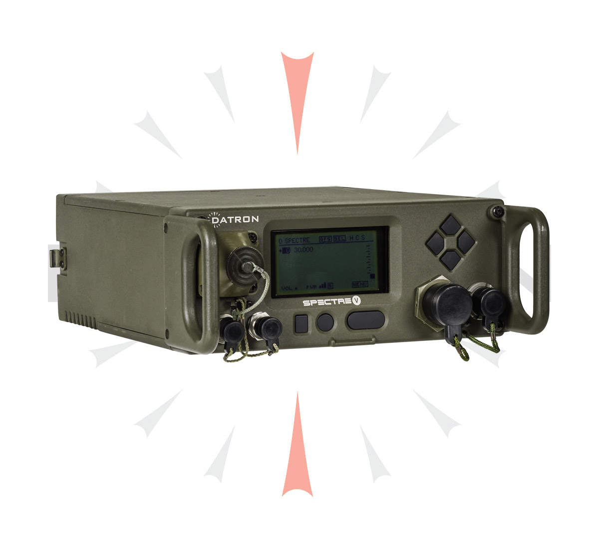 FEATURES - • 30 to 88 MHz• 100 programmable memory channels• Rugged (MIL-STD-810), immersible• Up to 10W (Manpack) & 75W (mobile or base station)• Internal antenna matching unit• Excellent co-site performance• Module level Built-In Test (BITE)• Embedded ECCM, COMSEC & GPS functions