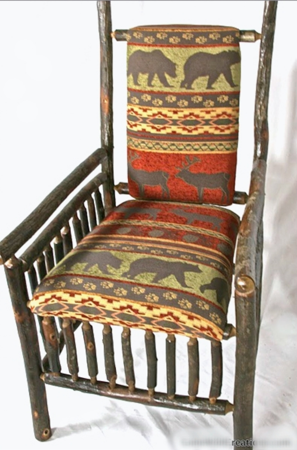 Hickory Lodge Chair in fabric