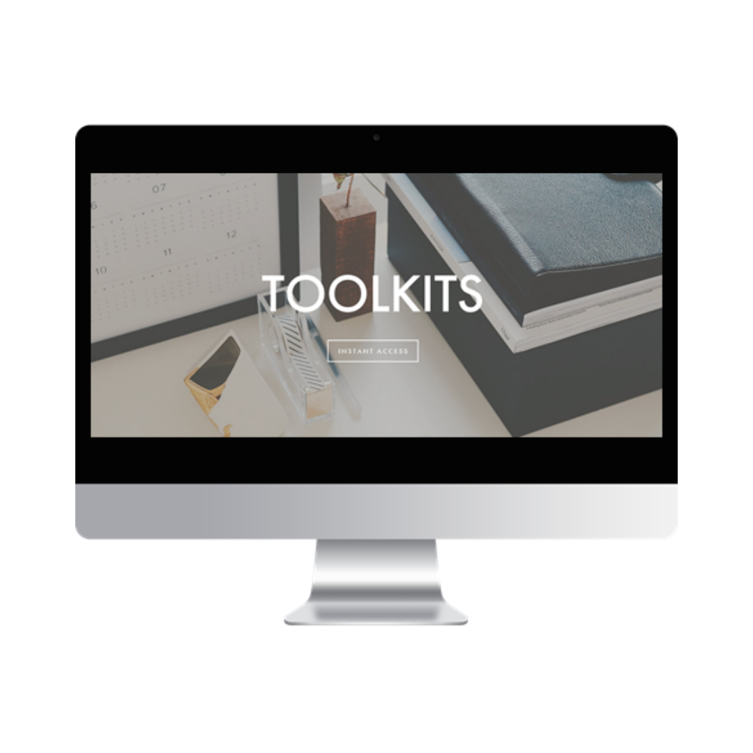 Toolkits - Membership provides all access to all resource toolkits to download, personalize, and impress your clients: Presentation Powerpoints, Project Reports, Time Estimate Register, and much more.