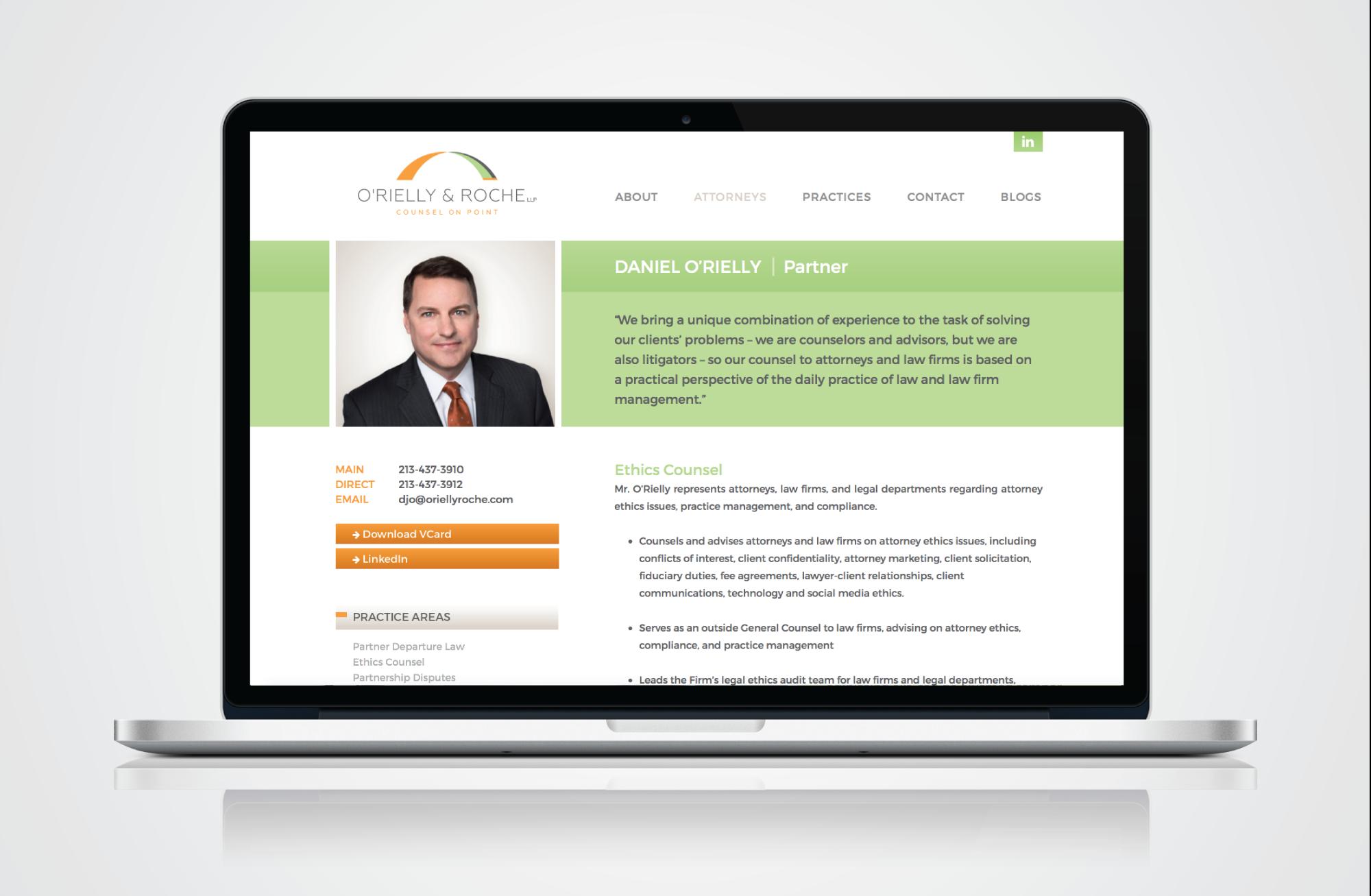 Law Firm Website Design - O'Rielly & Roche