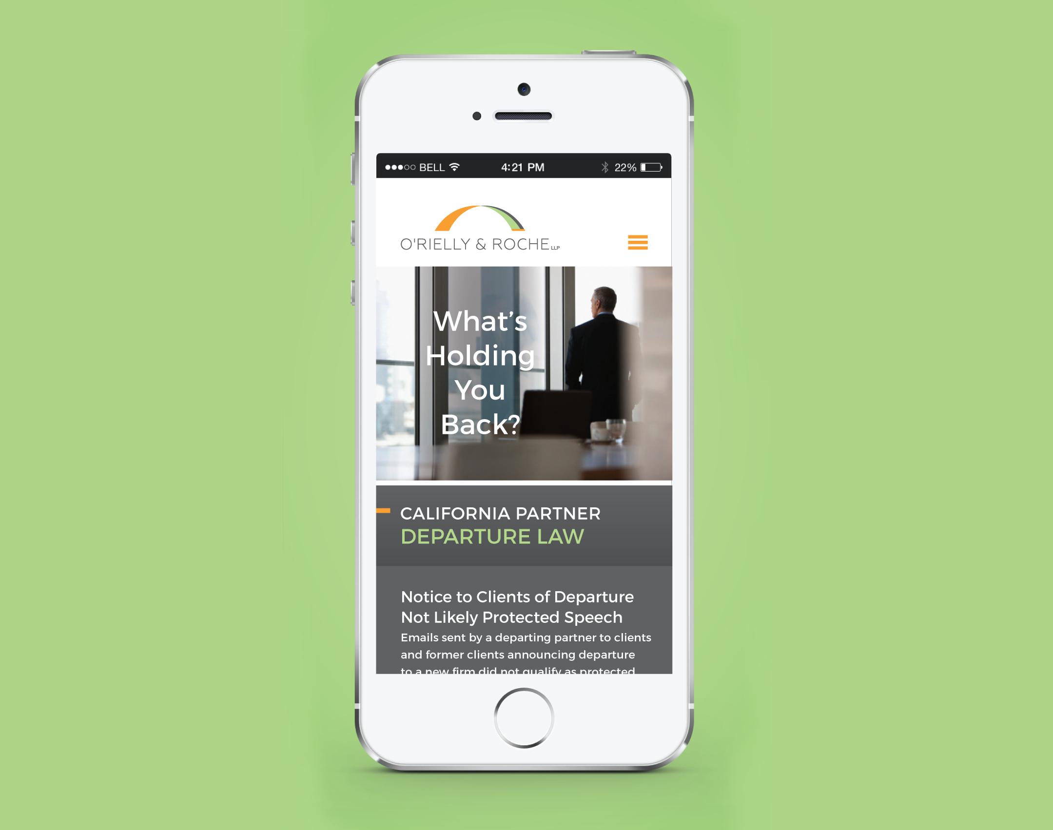 Law Firm Website Design - O'Rielly & Roche - Mobile