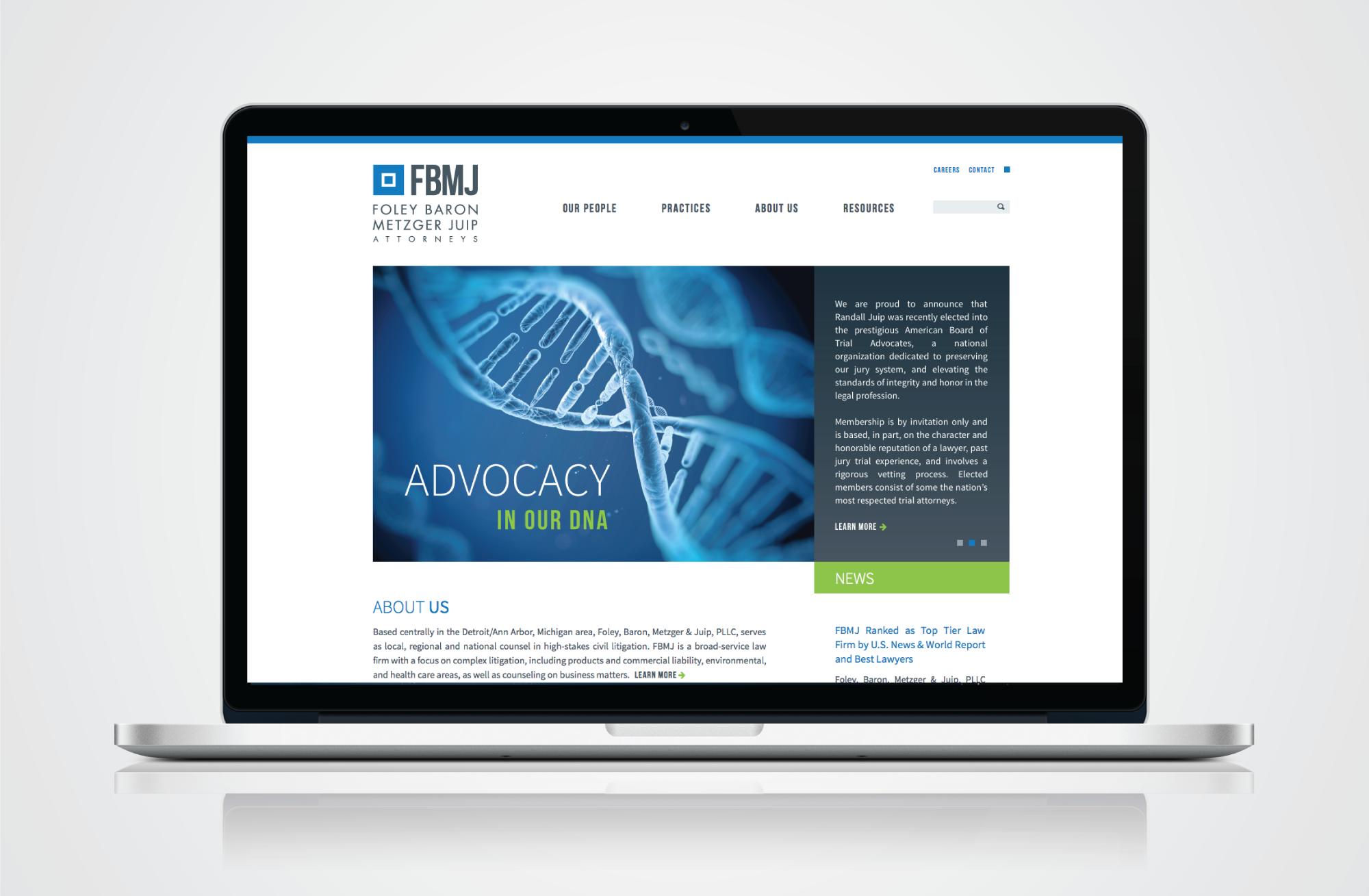 Law Firm Website Design - FBMJ