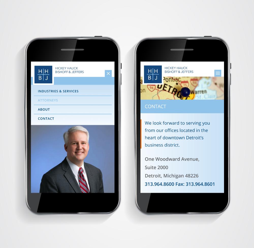 Law Firm Website Design - Mobile - HHBJ
