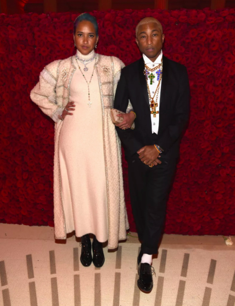 Pharrell Williams and Helen Lasichanh in Chanel