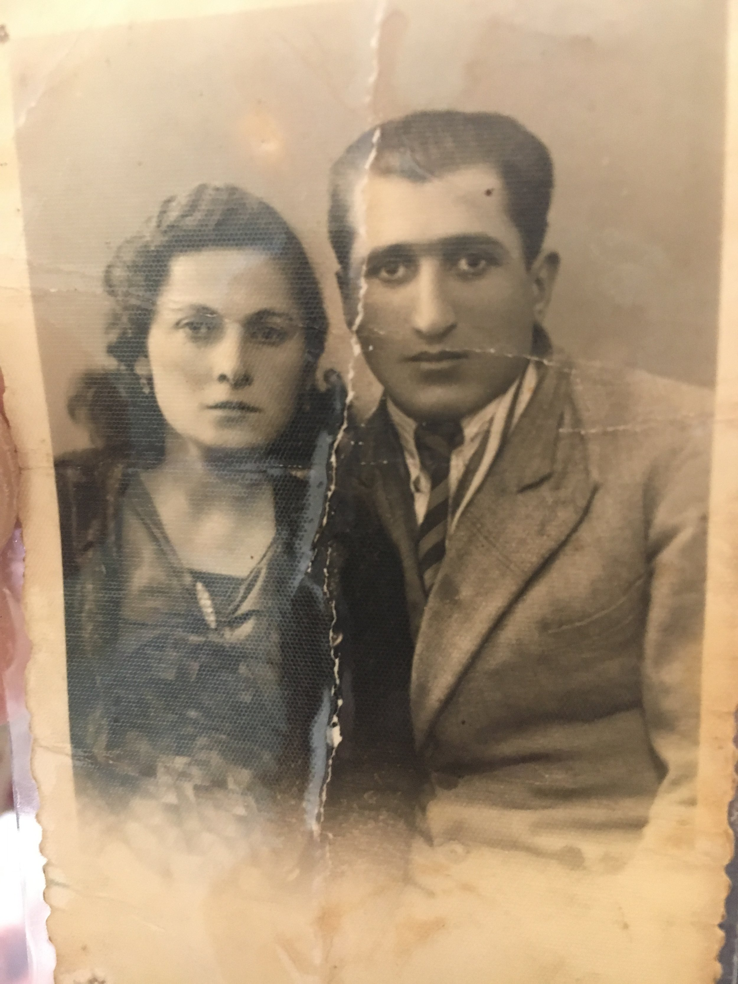 Anahid Georgian with her husband