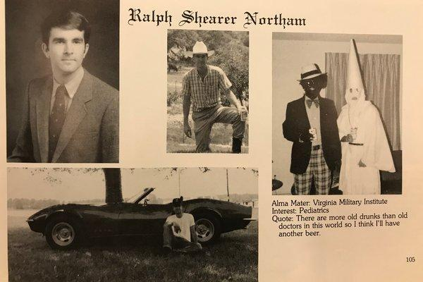 Gov. Ralph Northam's 1984 Yearbook Picture