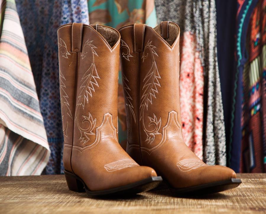 """Kat Mendenhall """"Swirly Swirls"""" boots. $525."""