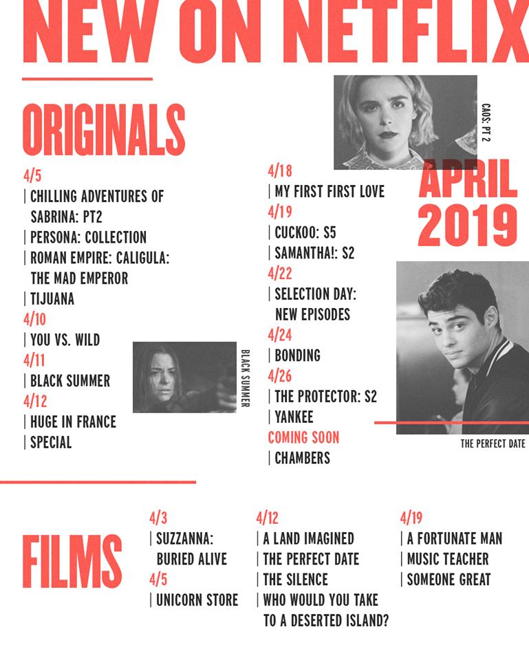 Netflix: April's Newest Arrivals — The Lexington Line