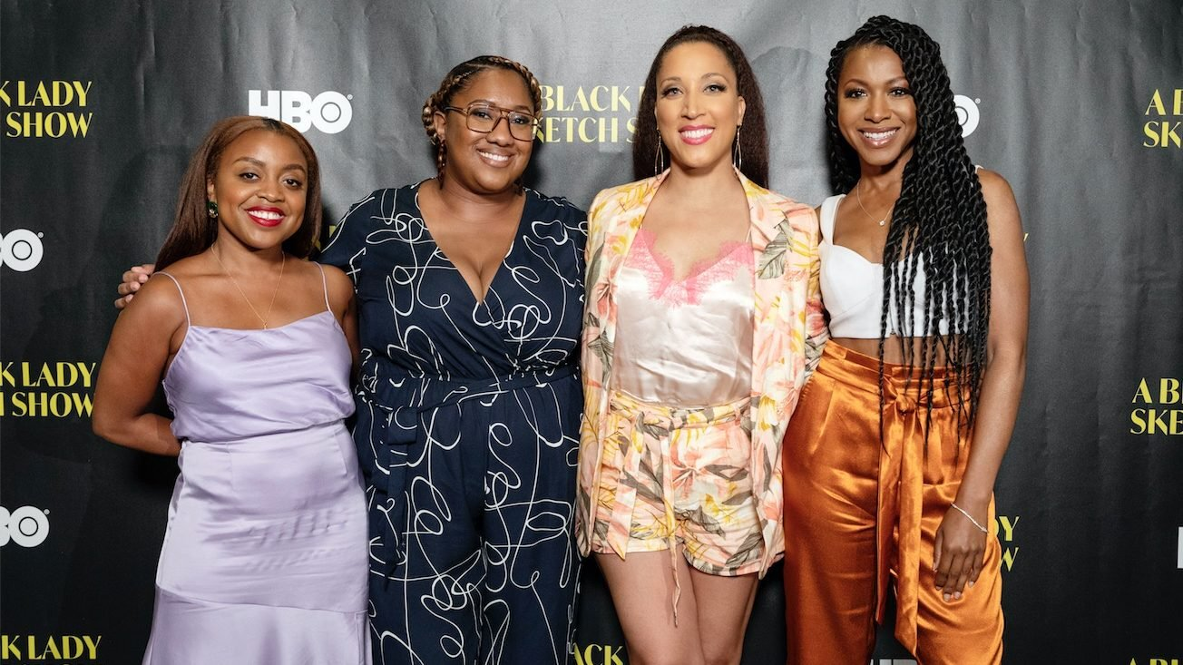 From left to right: Quinta Brunson, Ashley Nicole Black, Robin Thede, & Gabrielle Dennis