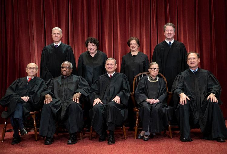 2019 Members of The Supreme Court courtesy  Supreme Court
