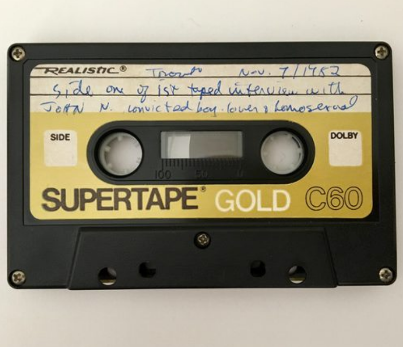 1982 cassette tape from the Foolscap Oral History Project