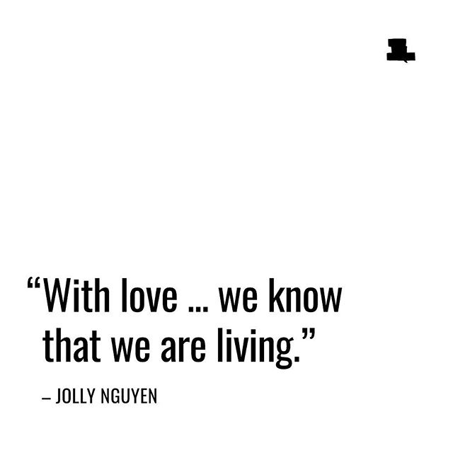 Beautiful quote by Jolly Nguyen. ❤️ Watch her full clip about love. 👉 Link in profile. . . . . . #speakyourlanguage #love #loveiseverything #quote #quoteoftheday #inspiration #inspirationalquotes #dailyinspiration #humaninterest #documentary #shareyourvoice #follow #begood #sharelove #life #livelife